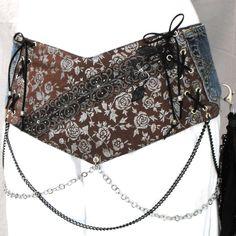http://www.etsy.com/listing/159797391/steampunk-brown-hip-belt-corset-belt?ref=shop_home_active  Steampunk brown hip belt corset belt with chains by LiziRose, $93.50