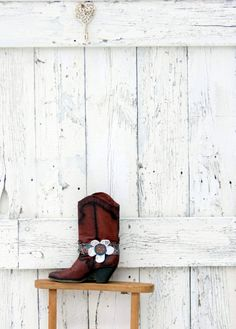 Boho Boot Bracelet indie fashion boot bling floral by wearlovenow, $18.00