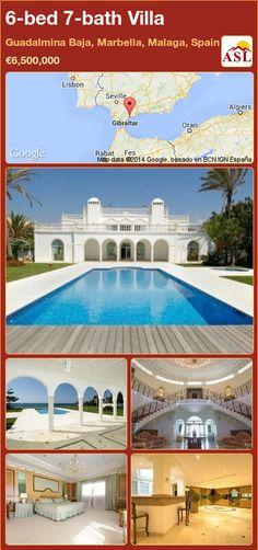 6-bed 7-bath Villa in Guadalmina Baja, Marbella, Malaga, Spain ►€6,500,000 #PropertyForSaleInSpain