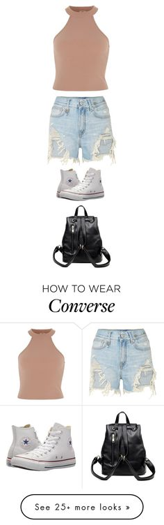 """""""Untitled #5895"""" by twerkinonmaz on Polyvore featuring R13, Converse and Cuero"""