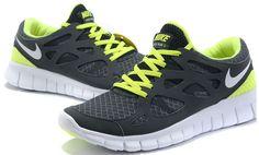 newest 98346 04c8a Vendre Pas Cher Free Run 2 Homme Chaussures Noire Grises Verte en ligne  dans France - VendreFree.com