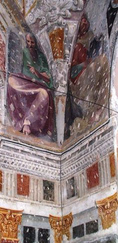 affreschi scoperti nella Cappella Cosentino in S.Maria della Visitazione