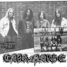"""blazeinthenorthernsuburbs: """" Carnage - Old School Swedish Death Metal with Michael Amott of Arch Enemy/Carcass Please follow if you love Extreme Metal """""""