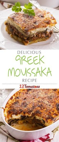 Greek Moussaka   The top bechamel layer gives way to a wonderfully savory meat sauce layered between eggplant to create a dish often compared to a Greek lasagna.