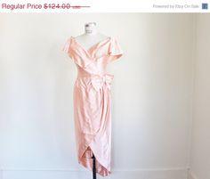 40 OFF SALE Vintage 80's does 50's Peach by perniejaynevintage, $74.40