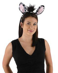 Zebra Adult Costume Accessory Kit