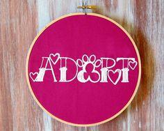 Adopt A Pet Hoop Art-Hoop Art-Adopt Hoop by ZellyaDesigns on Etsy