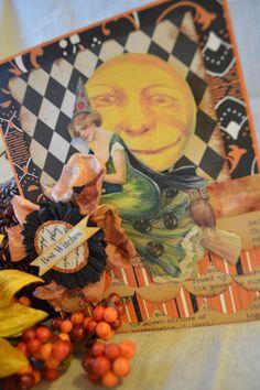 Halloween Handmade Vintage Greeting Card Paper by IndigoWings