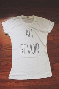 The Front Bottoms Au Revoir Lyric Shirt