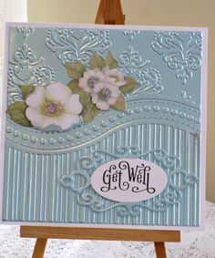 Linney: Get Well - All-occasion That Folder 3-in-1 Embossing Folder & Stamp Set
