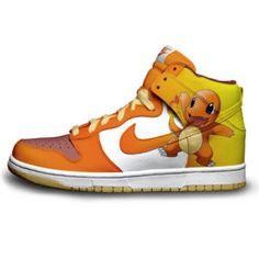 best service 61f3a 3376e Nike Dunks Pokemon Shoe Charmander Character Custom Nikes 4 Packs Baskets,  Cool Pokemon, My