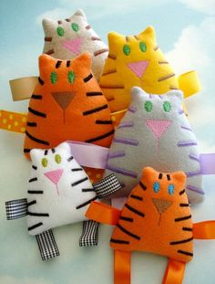 Tiger - Tabby Cat Embroidery Design for Machine Embroidery - Softie In-The-Hoop. $3.99, via Etsy.