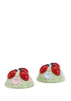 LENOX Butterfly Meadow Ladybug Salt and Pepper Set