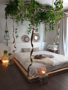 Room Ideas Bedroom, Home Decor Bedroom, Modern Bedroom, Bedroom Furniture, Trendy Bedroom, Cool Bedroom Ideas, Dark Cozy Bedroom, Furniture Ideas, Modern Canopy Bed