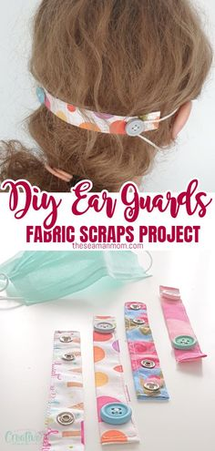 With so many small scraps that I'm sure everyone keeps, these ear savers are a great moment to use those scraps up and clear that stash. Diy Sewing Projects, Sewing Projects For Beginners, Knitting For Beginners, Sewing Hacks, Sewing Tutorials, Sewing Crafts, Tutorial Sewing, Sewing Tips, Sewing Patterns Free