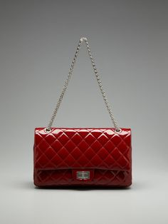 d20b14616898 Chanel Quilted Patent Jumbo Flap Shoulder Bag by Vintage Handbags and  Jewelry at Gilt