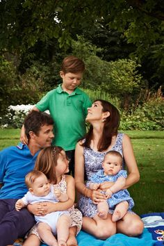 Crown Prince Frederik and Crown Princess Mary of Denmark, with Prince Christian, Princess Isabella, Prince Vincent and Princess Josephine - 2011