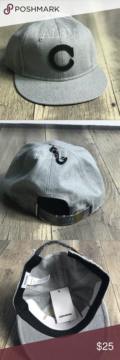 0a70c839 Structured flat cap Adjustable backstrap C (Converse) -applique on center  front Converse Accessories Hats