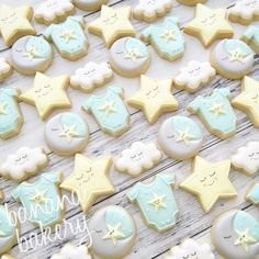 Baby shower cookies by Banana Bakery