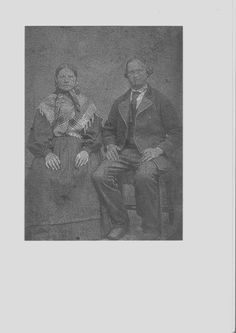 My great great grandparents Elen N. Oftedal and Ådne Pederson from Bråstein. Parents of Karen Maria Bråstein (Endresdotter). This is really poor quality, and I will try to get hold of the original photo.