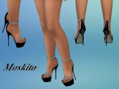 The Sims Resource: Platform high heels 022 by Moskito • Sims 4 Downloads
