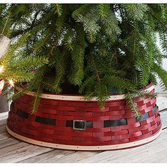 Longaberger Santa Belly Tree Skirt *** Visit the image link more details. Christmas Tree And Santa, Christmas Baskets, Christmas Tree Toppers, Xmas Tree, Winter Christmas, Christmas Themes, Christmas Crafts, Christmas Decorations, Christmas Ornaments