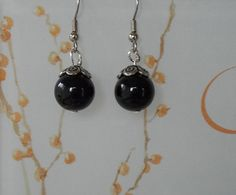 Classic Black High Polished Glass Drop by YouniquelyElegant, $6.95 #jewelry, #earrings, #dangleearrings