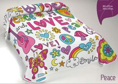 Colcha verano Peace. http://www.perfumeriaelajuar.com/cama/Colchas%20y%20Edredones/28/