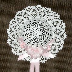 Crochet Decorative Hat Patterns - Lacy Diamonds Decorative Hat Pattern