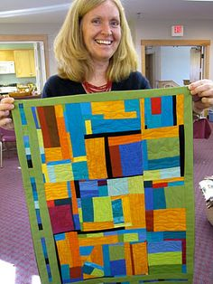solids free form quilt