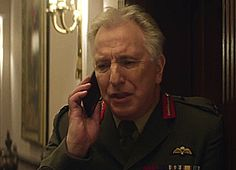 """There is a light that never goes out""- Rickman as Lieutenant General Frank Benson in ""Eye in the Sky"" in theaters sometime in 2016"