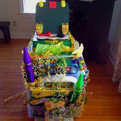 Crayola gift basket for fundraiser