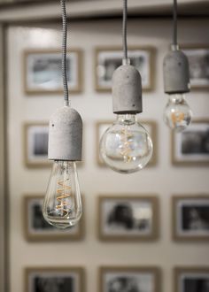 Pendel Beton E27 incl. Textielsnoer Zwart/Wit en kap zwart | SameLight.eu Bern, Ceiling Lights, Lighting, Pendant, Loft, Home Decor, Light Fixtures, Taps, Monochrome