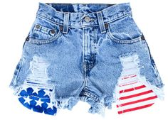 American Flag High Waisted Denim Shorts on Etsy, $47.00