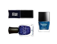 Top 5 nails trends of Fall (yes, blue sparkle is one of them)