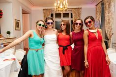 Me and my girls on my wedding day #wedding #ideas #multicolor #colorblock
