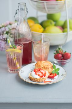 Laura Ashley Blog | ON THE MENU: BASIL LEMON SCONES and STRAWBERRY SYRUP | http://blog.lauraashley.com