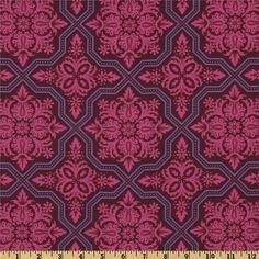 Heirloom Voile Tile Flourish Garnet