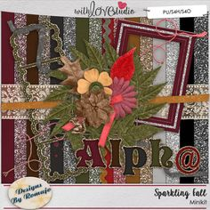 Sparkling Fall - digital scrapbooking kit from Designs by Romajo. This sparkly fall inspired kit will add that touch of glam to your layouts.
