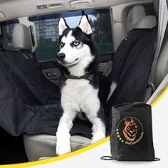 Dog Seat Covers for Cars  Washable  Waterproof  with NonSlide Back Side  Pet Hammock for Car Easy Installing Bench Seat Cover with Straps and Belt Holes Comes with Storage Bag and Dog Seat Belt ** Click image to review more details.