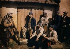 French soldiers at rest, 1914