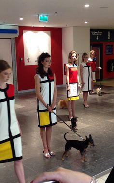 Sylvie Fleury, performance C'est La Vie 2013, Hoog Catherijne, Utrecht. Sylvie Fleury, Marcel Duchamp, Utrecht, Ascot, Primary Colors, Dresses For Work, Women, Style, Fashion