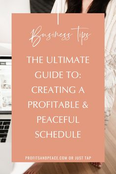 Time management is so important. Why not make it as profitable and peaceful as possible. Here is your Ultimate Guide! #guide #businesstips #schedule Creative Business, Business Tips, Online Business, Goal Digger, Business Organization, Entrepreneur Inspiration, Time Management Tips, Finding Peace, Business Entrepreneur