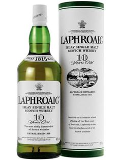 Laphroaig 10 Years Old Islay Single Malt Scotch Whisky Laphroaig Whisky, Whisky Islay, Carne Defumada, Whisky Single Malt, Top Drinks, Cereal, Wine And Liquor, Scotch Whiskey, Distillery