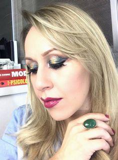 Makeup de hoje inspirada em produção de Linda Hallbergs.