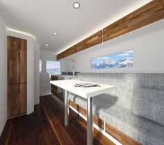 Here's one of the renderings for my Sprinter Van. Absolutely love the modern rustic vibe. That view ain't bad either ☺️ 〰〰〰〰〰〰〰〰