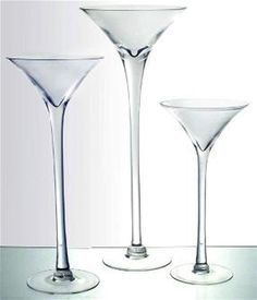 """Martini Glass Vase 16"""" 20"""" 23"""" Wedding Centerpiece Tall Giant Jumbo Extra Large 