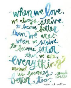When we love...
