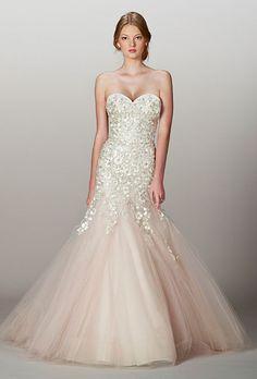 Liancarlo Sparkly Blush Mermaid Dress