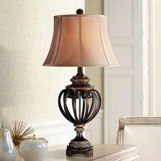 Qiseyuncai American Style Minimalist Modern Art Bedroom Bedside Table Lamp Vintage Rural Wedding Lighting